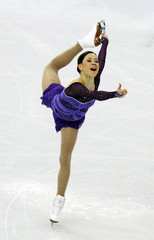 Finland's Lepisto performs in the women's short programme figure skating event at the Vancouver 2010 Winter Olympics