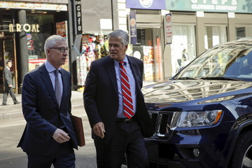 New York State Senator Skelos arrives at the Jacob Javits Federal Building in New York
