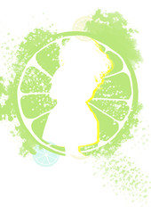 Lemon Fashion. Concept Illustration, Abstract Clip Art.
