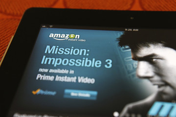 The Amazon streaming video app for Apple's iPad is seen in Los Angeles