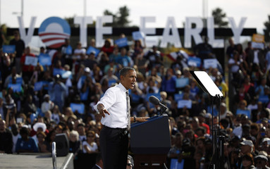 U.S. President Barack Obama participates in a campaign rally in Las Vegas