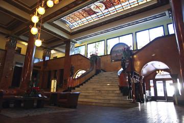 The lobby of the Gadsden Hotel in Douglas