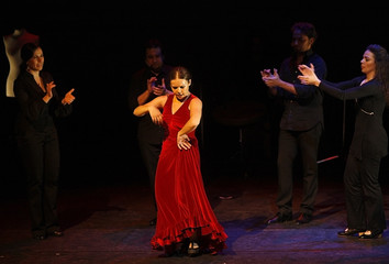Flamenco dancer Rocio Molina performs during the Zakharef in Motion Festival in Amman