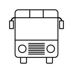 bus icon over white background. vector illustration