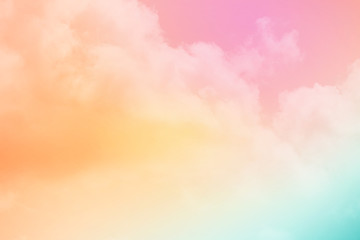 artistic fluffy cloud and sky with gradient color, nature abstract background