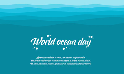World ocean day style collection