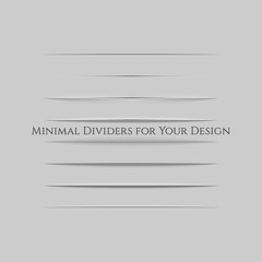 Realistic Page Dividers Set for Your Design