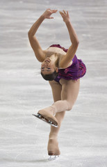 Mirai Nagasu skates during the women's short program at the U.S. Figure Skating Championships in Greensboro