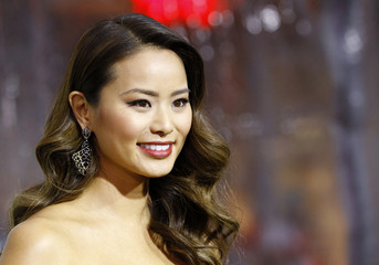 """Chung poses at the premiere of """"Sucker Punch"""" at the Grauman's Chinese theatre in Hollywood"""