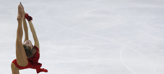 Elena Radionova of Russiacompetes during her ladies short program at the ISU Bompard Trophy Figure Skating competition in Bordeaux,