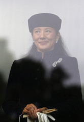 Japan's Crown Princess Masako attends an event to celebrate Emperor Akihito's 79th birthday at the Imperial Palace in Tokyo