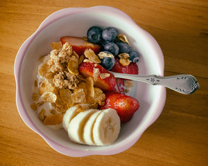 Homemade Parfait in a Bowl