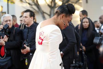 Aunjanue Ellis arrives at the 47th NAACP Image Awards in Pasadena