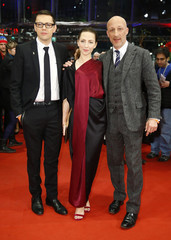 Director Hirschbiegel, actress Schuettler and actor Friedel arrive for the awards ceremony at the 65th Berlinale International Film Festival in Berlin