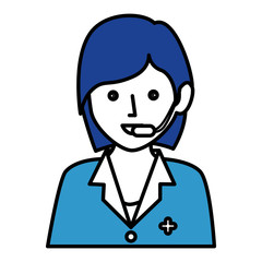 Medical call center agent vector illustration design