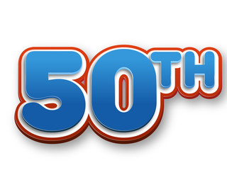 50th celebration event number for poster or invitation