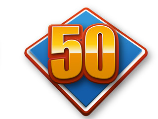 50th celebration event number for poster or invitation