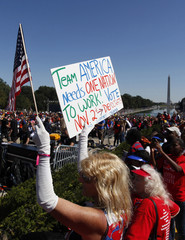 People take part in the One Nation Working Together rally in Washington