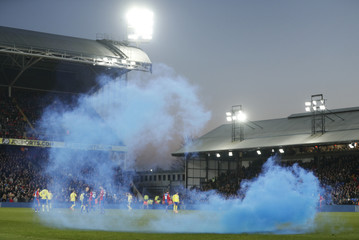 General view of a flare on the pitch