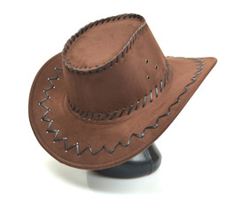 Hat cowboy isolated on white background