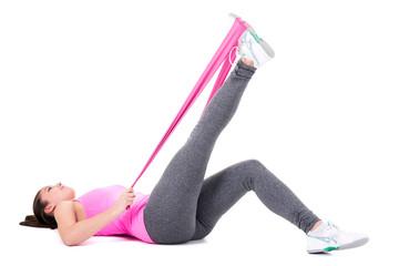 po muskulatur stärken mit dem dem thera-band