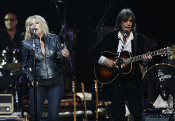 """Musician Williams performs with Campbell during the """"Love for Levon"""" charity event at the Izod Center in East Rutherford"""