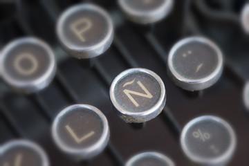 Spanish symbol typewriter