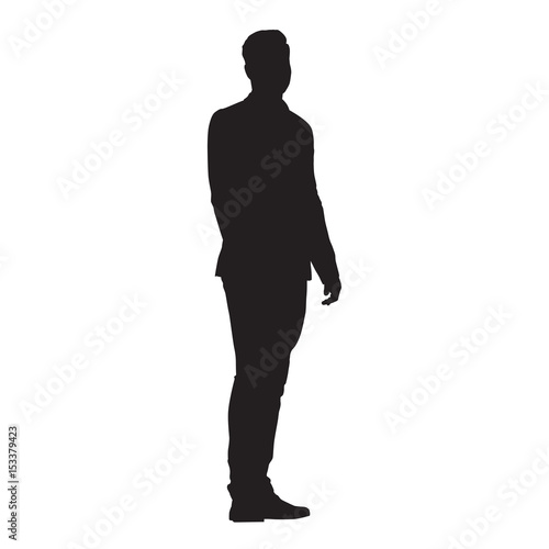 man standing side view silhouette 59661 trendnet