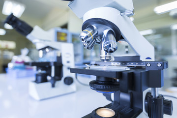 Microscopes in Laboratory