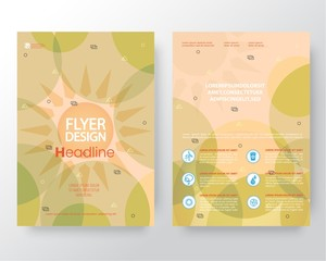 Abstract weather,Global warming, Brochure Flyer design vector template in A4 size
