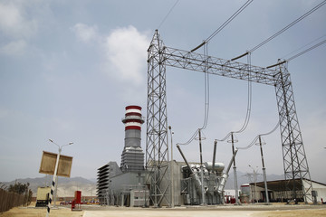 The Termochilca thermoelectric power plant is pictured during its inauguration ceremony at Chilca district