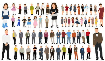 Collection of people  illustration