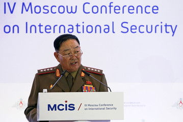 Senior North Korean military officer Hyon Yong Chol attends the 4th MCIS in Moscow