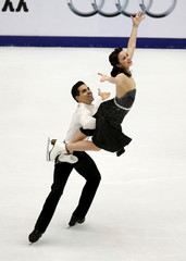 Anna Cappellini and Luca Lanotte of Italy compete during the ice dance free dance program during China ISU Grand Prix of Figure Skating in Beijing