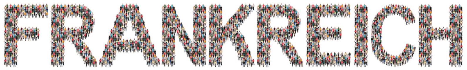 Frankreich Leute Menschen People Gruppe Menschengruppe