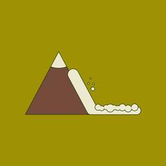 flat icon stylish background snow avalanche