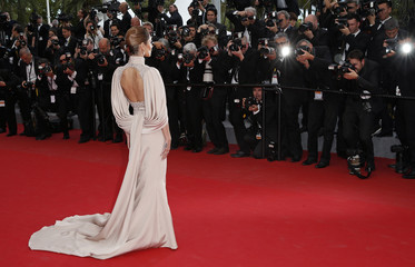 "Singer Cheryl Fernandez-Versini aka Cheryl Cole poses on the red carpet as she arrives for the screening of the film ""Irrational Man"" out of competition at the 68th Cannes Film Festival in Cannes"