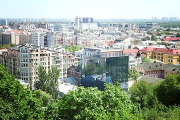 City landscape and buildings