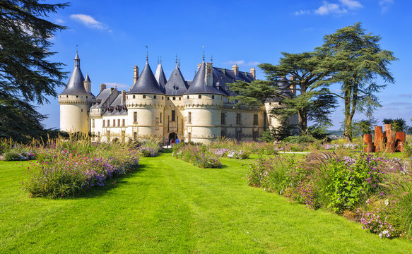 Chaumont-sur-Loire castle, France. This castle is located in the Loire Valley. Landmark of France.