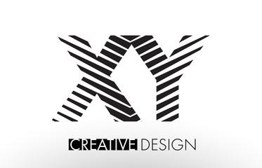 XY X Y Lines Letter Design with Creative Elegant Zebra