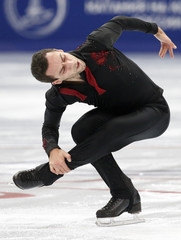 Stephen Carriere of the U.S. performs during the men's short program at the Rostelecom Cup ISU Grand Prix of Figure Skating in Moscow