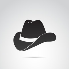 Country, cowboy hat vector icon.