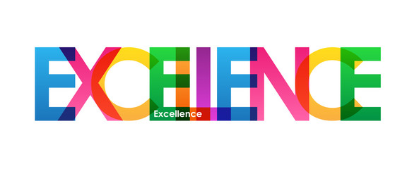 EXCELLENCE Colourful Vector Letters Icon