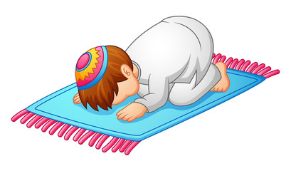 little kid prostration for praying of muslim