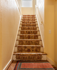 staircase with secure carpet