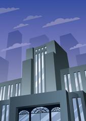 Art Deco Building 2 / Cartoon building in Art Deco style.