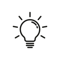 Lightbulb line icon. Vector