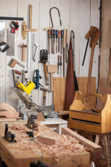 Carpenter's Place after Hard Work/Carpenter's workshop after a working day