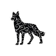 Dog pet color silhouette animal