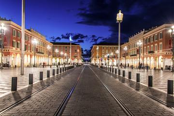 Place Masséna, Nice, La nuit